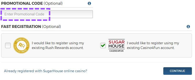 Sugarhouse Casino Registration