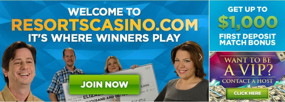 Resorts Casino Welcome Bonus Page