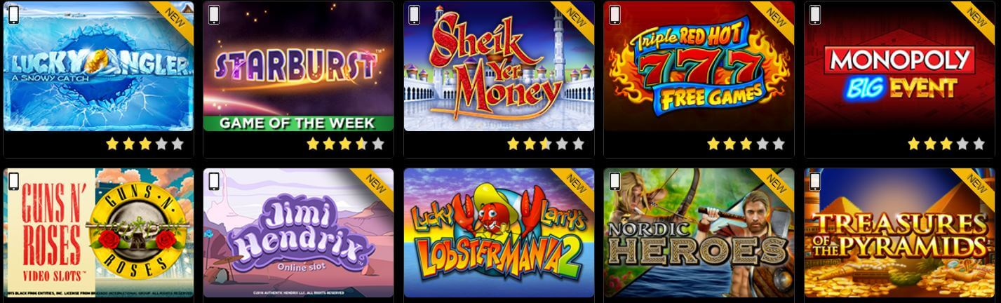 Golden Nugget Casino Games Offer