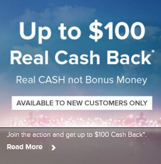 Up to $100 real cash back - Available to new customer only - Terms and conditions apply - Clicking on this image will take you to the Virgin Casino website