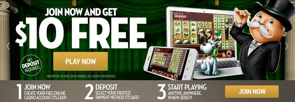An image describing the Caesars Casino No Deposit welcome offer - Terms and Conditions apply - Clicking on this image will take you to the Caesars Casino website