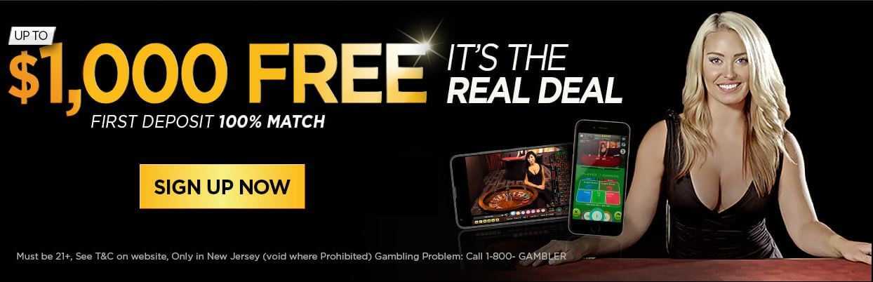 Golden Nugget Casino Bonus Code Offer - $1000 Free and 100% match on first deposit - Terms and conditions apply - Clicking on this image will take you to the Golden Nugget Casino website
